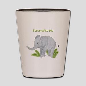 Personalized Elephant Shot Glass