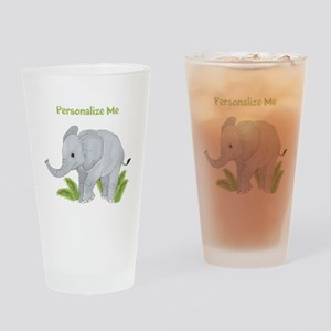 Personalized Elephant Drinking Glass