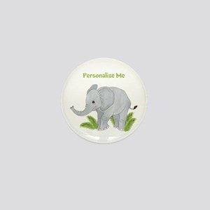 Personalized Elephant Mini Button