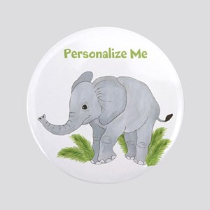 "Personalized Elephant 3.5"" Button"