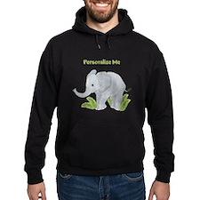 Personalized Elephant Hoodie (dark)