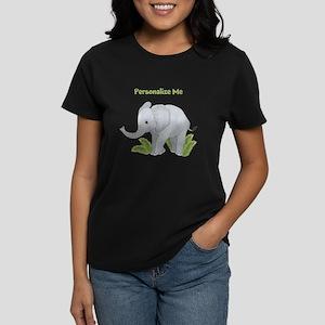 Personalized Elephant Women's Dark T-Shirt
