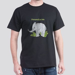 Personalized Elephant Dark T-Shirt
