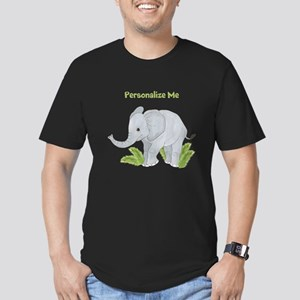 Personalized Elephant Men's Fitted T-Shirt (dark)