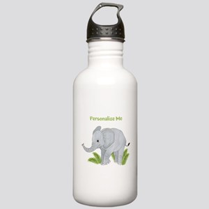 Personalized Elephant Stainless Water Bottle 1.0L