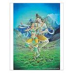Shiva & Parvati Dancing Poster