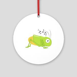 Musical Cricket Ornament (Round)