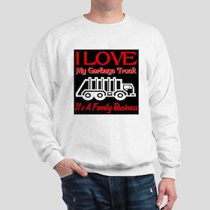 I Love My Garbage Truck Sweatshirt