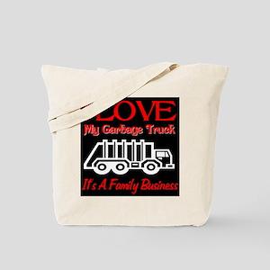 I Love My Garbage Truck Tote Bag