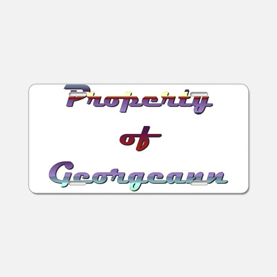 Property Of Georgeann Female Aluminum License Plat