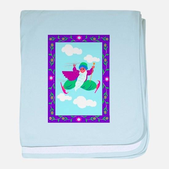 flying genie baby blanket