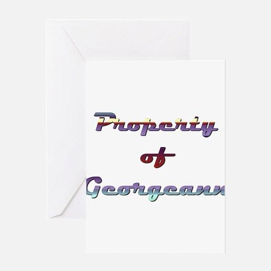 Property Of Georgeann Female Greeting Card