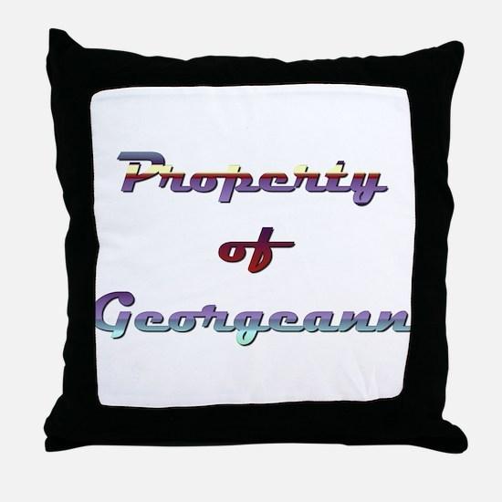Property Of Georgeann Female Throw Pillow