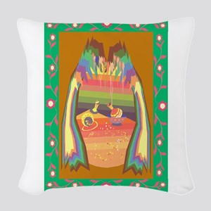 cave of jewels Woven Throw Pillow