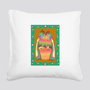 cave of jewels Square Canvas Pillow