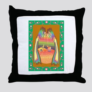 cave of jewels Throw Pillow
