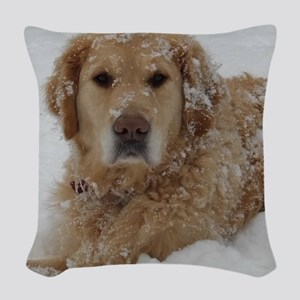 Golden Retriever Woven Throw Pillow