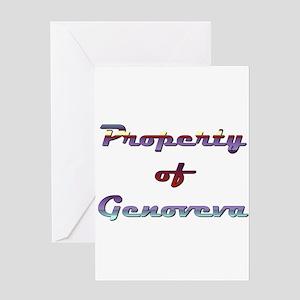 Property Of Genoveva Female Greeting Card