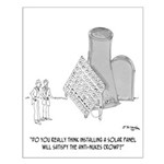 Solar Cartoon 0747 Small Poster