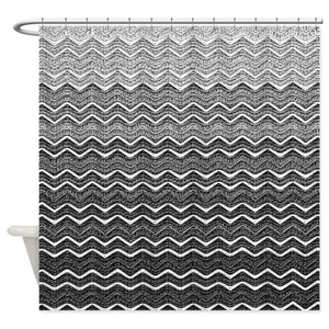 Grey Ombre Shower Curtains