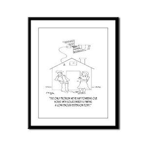 Solar Cartoon 0521 Framed Panel Print