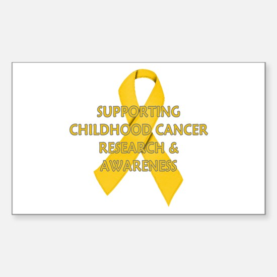 ...Childhood Cancer... Rectangle Decal