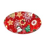 Christmas Cookies Oval Car Magnet
