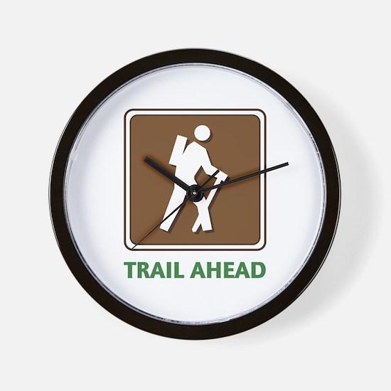 Hike Train Ahead Wall Clock