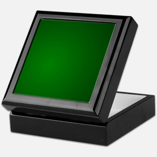 Hunter Green gradient Keepsake Box