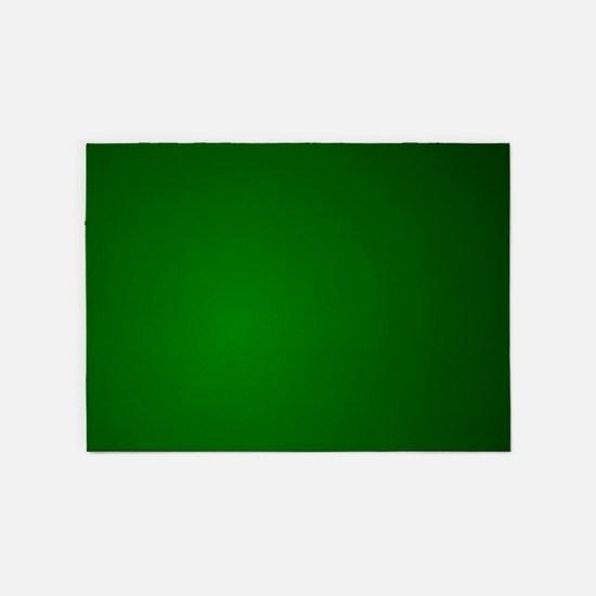 Hunter Green gradient 5'x7'Area Rug