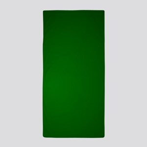 Hunter Green gradient Beach Towel