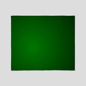 Hunter Green gradient Throw Blanket