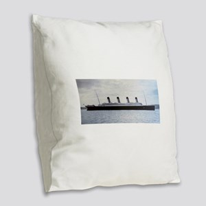 Titanic Burlap Throw Pillow