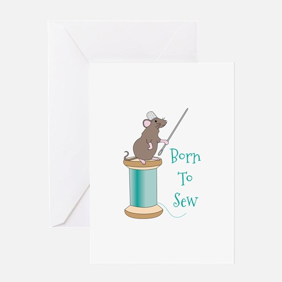 Born To Sew Greeting Cards