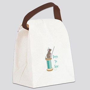 Born To Sew Canvas Lunch Bag