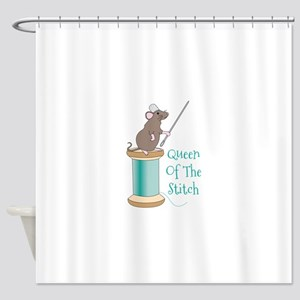 Queen of the Stitch Shower Curtain