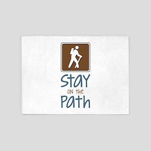 Hike On Path 5'x7'Area Rug