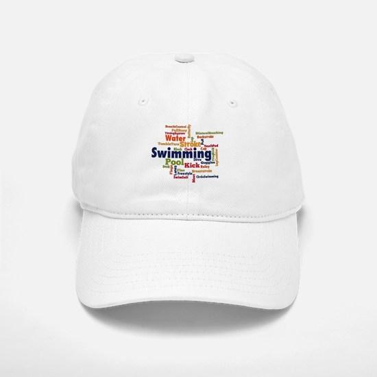 Swimming Word Cloud Baseball Baseball Baseball Cap