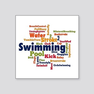Swimming Word Cloud Sticker