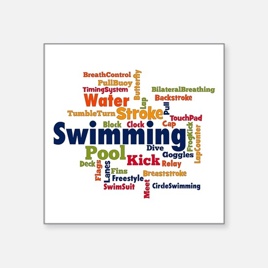 Swimming Word Cloud Sticker