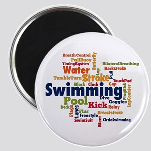 Swimming Word Cloud Magnets
