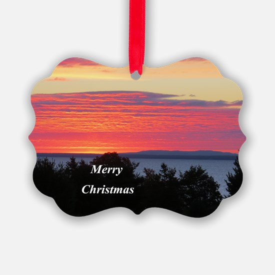 Sunrise Lake Superior Ornament