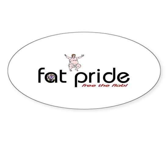 Fat man oval decal