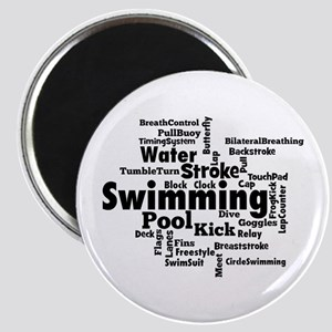 Swim Word Clouc Magnets