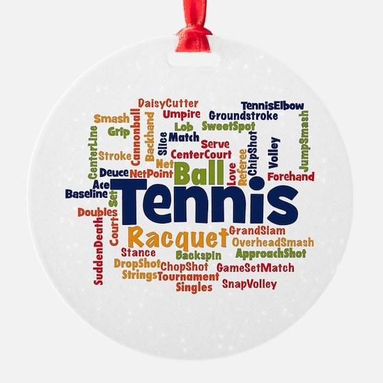 Tennis Word Cloud Ornament