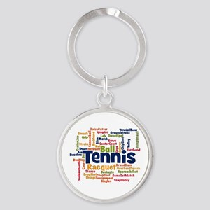 Tennis Word Cloud Keychains