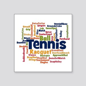 Tennis Word Cloud Sticker