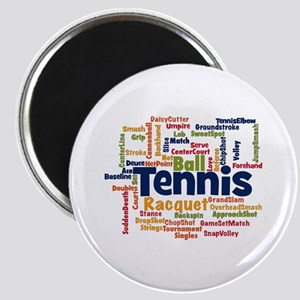 Tennis Word Cloud Magnets