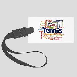 Tennis Word Cloud Luggage Tag