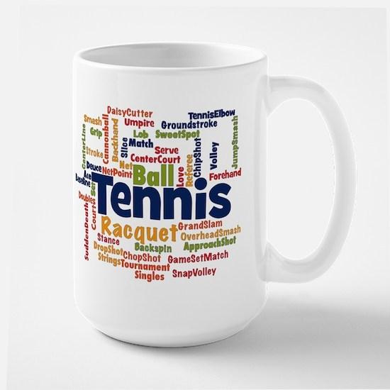 Tennis Word Cloud Mugs